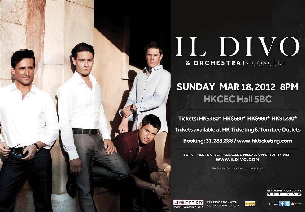 Il divo orchestra in concert hong kong 2012 timable hong kong event 112910amhkticketing hkticketing 1 httphkticketing 2 31 288 288 m4hsunfo